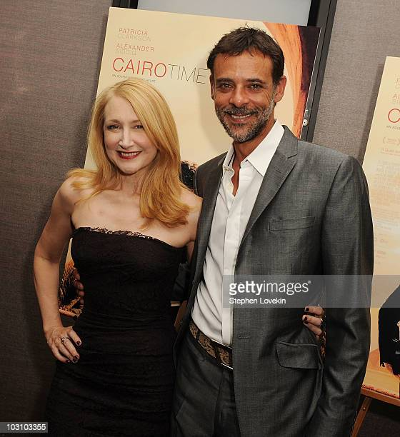 Actors Patricia Clarkson and Alexander Siddig attend the premiere of 'Cairo Time' at Cinema 3 on July 26 2010 in New York City