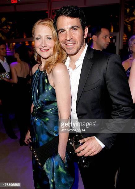 Actors Patricia Clarkson and Chris Messina attend the 2014 Vanity Fair Oscar Party Hosted By Graydon Carter on March 2 2014 in West Hollywood...