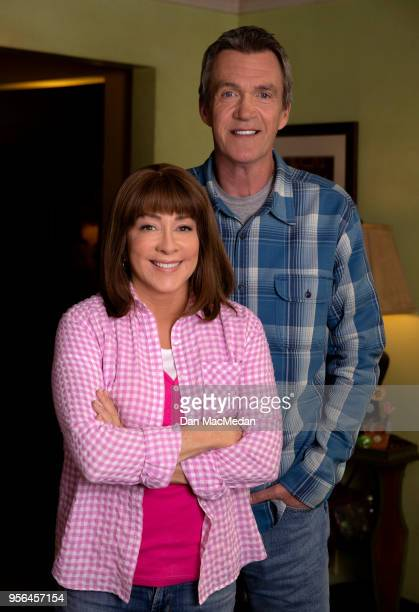 Actors Patricia Heaton and Neil Flynn from 'The Middle' are photographed for USA Today on March 22 2018 in Burbank California PUBLISHED IMAGE