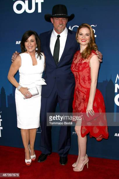 Actors Patricia Heaton Trace Adkins and Sarah Drew attend the 'Mom's Night Out' Los Angeles premiere held at the TCL Chinese Theatre IMAX on April 29...