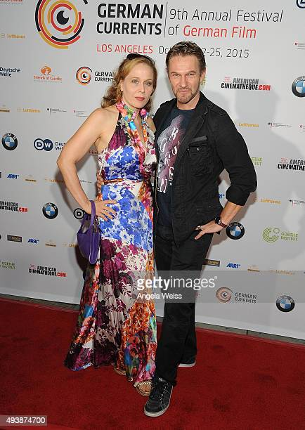 Actors Patricia Lueger and Thure Riefenstein attend the 9th annual German Currents Festival of German Film - opening night red carpet gala at the...