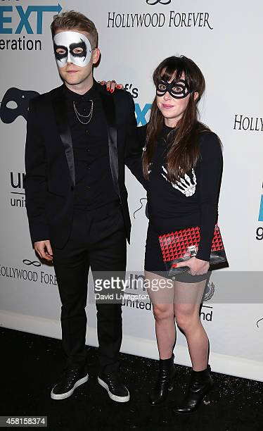 Actors Patrick Carlyle and Allyn Rachel attend UNICEF's Next Generation's 2nd Annual UNICEF Masquerade Ball at Hollywood Forever Cemetery on October...