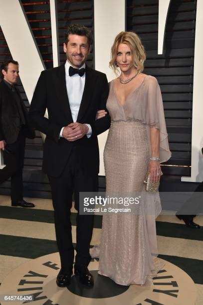 Actors Patrick Dempsey and Jillian Dempsey attend the 2017 Vanity Fair Oscar Party hosted by Graydon Carter at Wallis Annenberg Center for the...