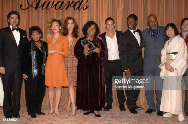 Actors Patrick Dempsey Chandra Wilson Sandra Oh Kate Walsh writer producer of Grey's Anatomy Shonda Rhimes Justin Chambers Isaiah Washington James...