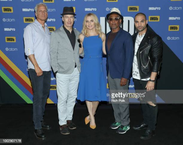 Actors Patrick Fabian Bob Odenkirk Rhea Seehorn Giancarlo Esposito and Michael Mando attend the #IMDboat At San Diego ComicCon 2018 Day Two at The...