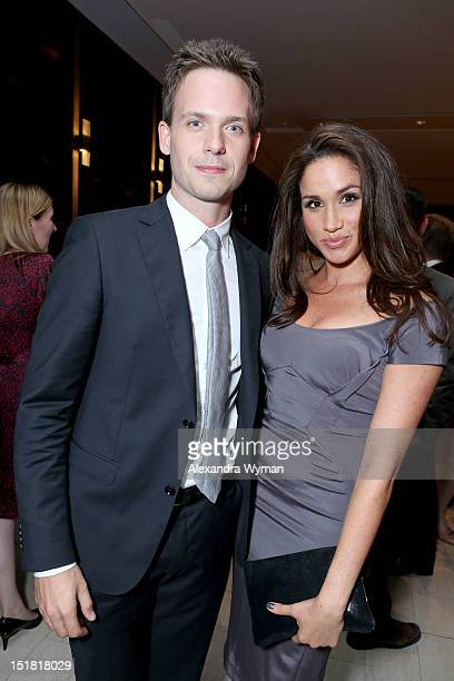 Actors Patrick J Adams and Meghan Markle attend the FINCA Canada Fundraiser At TIFF 2012 during the Toronto International Film Festival on September...