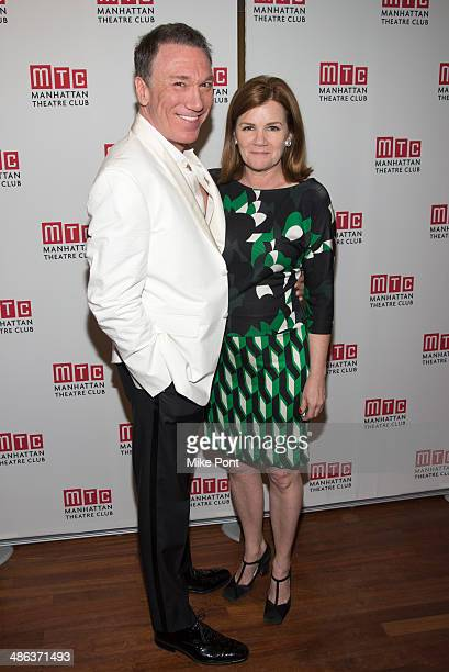 Actors Patrick Page and Mare Winningham attend the after party for the Broadway opening night for Casa Valentina at Copacabana on April 23 2014 in...