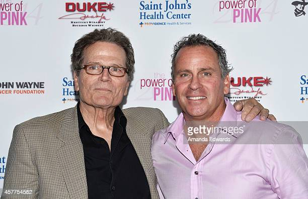 Actors Patrick Wayne and Ethan Wayne arrive at the 2014 Power Of Pink An Acoustic Evening With Pnk And Friends event at The House of Blues Sunset...