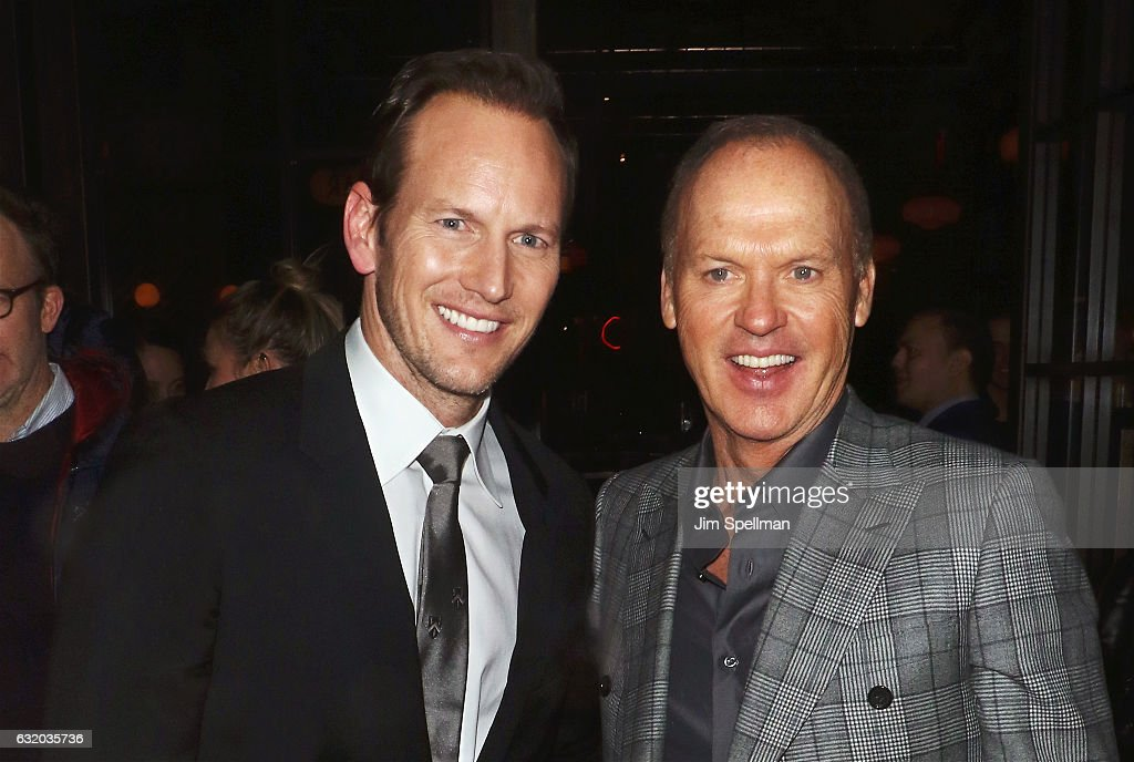 Actors Patrick Wilson and Michael Keaton attend the screening after party for 'The Founder' hosted by The Weinstein Company with Grey Goose at The Roxy on January 18, 2017 in New York, New York.