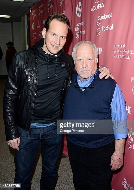 Actors Patrick Wilson and Richard Dreyfuss attends the Zipper premiere during the 2015 Sundance Film Festival on January 27 2015 in Park City Utah
