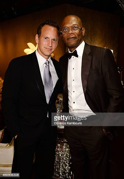 Actors Patrick Wilson and Samuel L Jackson attend the 68th Annual Tony Awards at Radio City Music Hall on June 8 2014 in New York City