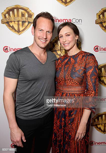 "Actors Patrick Wilson and Vera Farmiga of 'The Conjuring 2' attend CinemaCon 2016 Warner Bros. Pictures Invites You to ""The Big Picture"", an..."