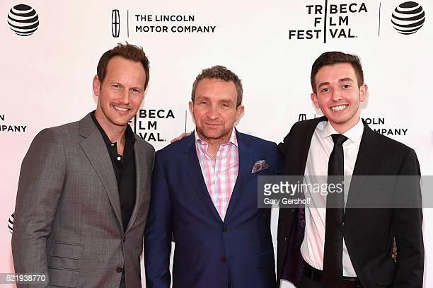 Actors Patrick Wilson Eddie Marsan and Radek Lord attend A Kind of Murder premiere during 2016 Tribeca Film Festival at SVA Theatre on April 17 2016...