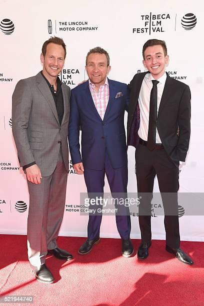 Actors Patrick Wilson Eddie Marsan and Radek Lord attend 'A Kind of Murder' premiere during 2016 Tribeca Film Festival at SVA Theatre on April 17...