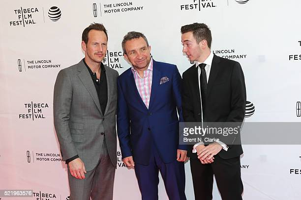 Actors Patrick Wilson Eddie Marsan and Radek Lord attend the world premiere of 'A Kind of Murder' during the 2016 Tribeca Film Festival held at the...