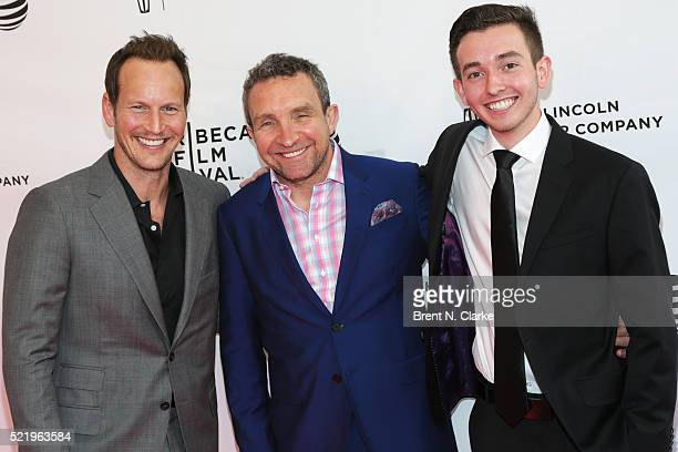 Actors Patrick Wilson Eddie Marsan and Radek Lord attend the world premiere of A Kind of Murder during the 2016 Tribeca Film Festival held at the SVA...