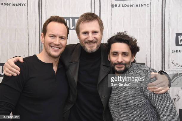 Actors Patrick Wilson Liam Neeson and director Jaume ColletSerra visit Build Series to discuss the film 'The Commuter' at Build Studio on January 8...