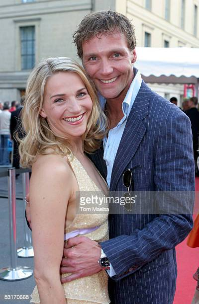 Actors Patrik Fichte and Tanja Wedhorn attend the ZDF Television Summer Party June 29 2005 in Berlin Germany