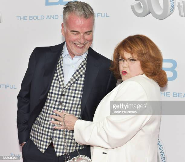 Actors Patrika Darbo and Ian Buchanan attend CBS's 'The Bold and The Beautiful' 30th Anniversary Party at Clifton's Cafeteria on March 18 2017 in Los...