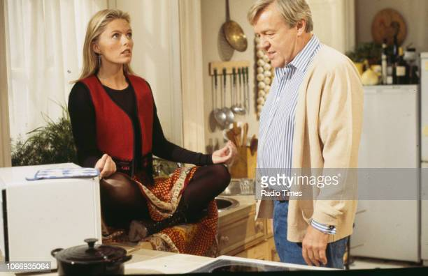 Actors Patsy Kensit and William Gaunt in a scene from the BBC comedy pilot 'Blisters' October 10th 1993