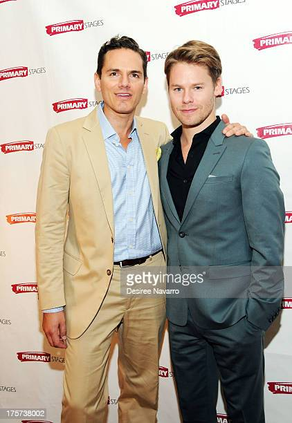 Actors Paul Anthony Stewart and Randy Harrison attend 'Harbor' Opening Night After Party at Park Avenue Armory on August 6 2013 in New York City