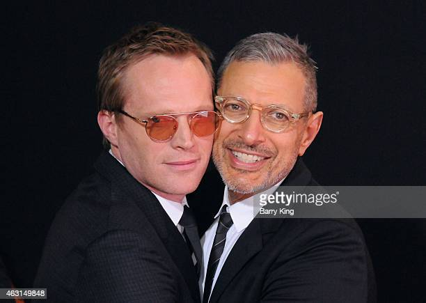 Actors Paul Bettany and Jeff Goldblum arrive at the Los Angeles Premiere of 'Mortdecai' at TCL Chinese Theatre on January 21 2015 in Hollywood...