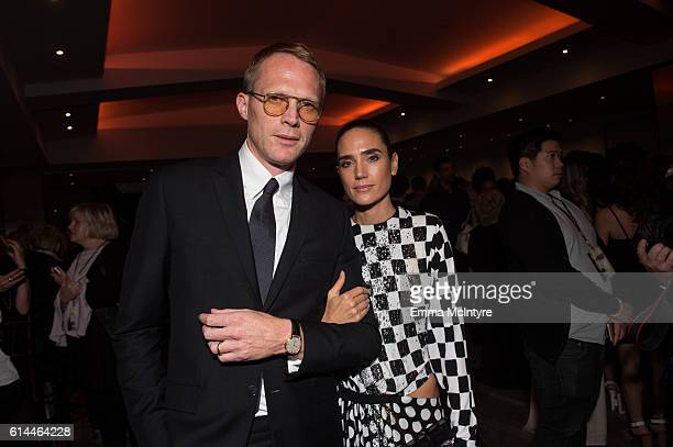 Actors Paul Bettany and Jennifer Connelly attend the after party for the premiere of Lionsgate's 'American Pastoral' on October 13 2016 in Beverly...