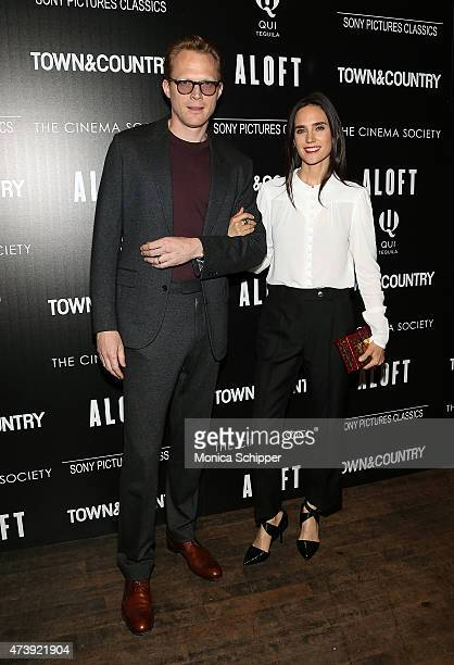 Actors Paul Bettany and Jennifer Connelly attend The Cinema Society with Town Country host a special screening of Sony Pictures Classics' Aloft at...