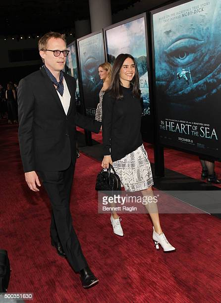 Actors Paul Bettany and Jennifer Connelly attend the In The Heart Of The Sea New York Premiere at Frederick P Rose Hall Jazz at Lincoln Center on...