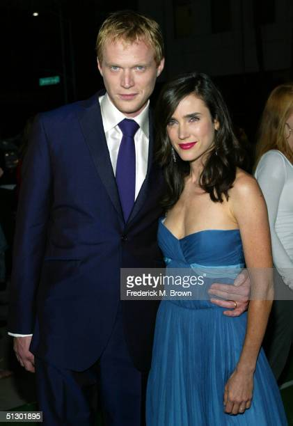 Actors Paul Bettany and Jennifer Connelly attend the world premiere of the Universal Feature Wimbledon at the Academy of Motion Pictures Arts and...