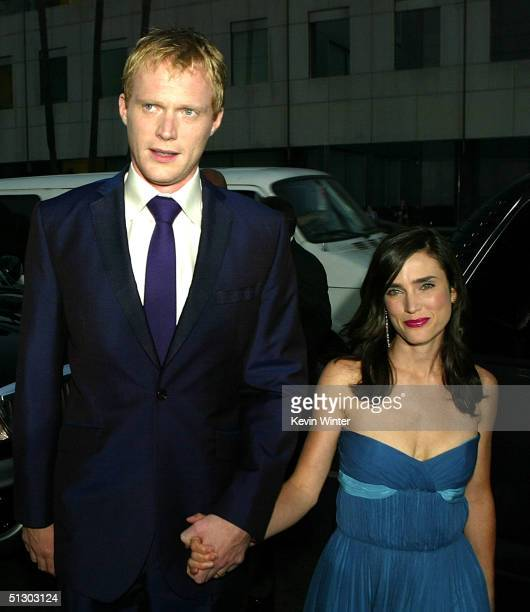 Actors Paul Bettany and Jennifer Connelly attends the world premiere of the Universal Feature Wimbledon at the Academy of Motion Pictures Arts and...