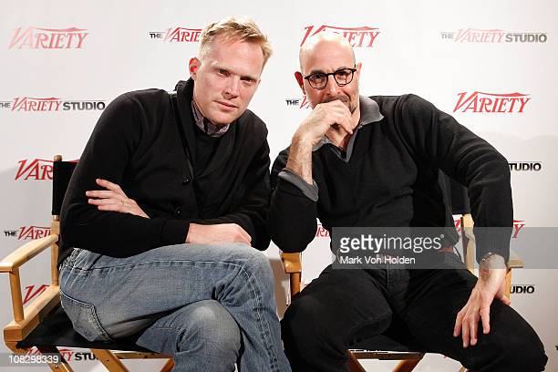 Actors Paul Bettany and Stanley Tucci attends the Variety Studio At Sundance on January 24 2011 in Park City Utah