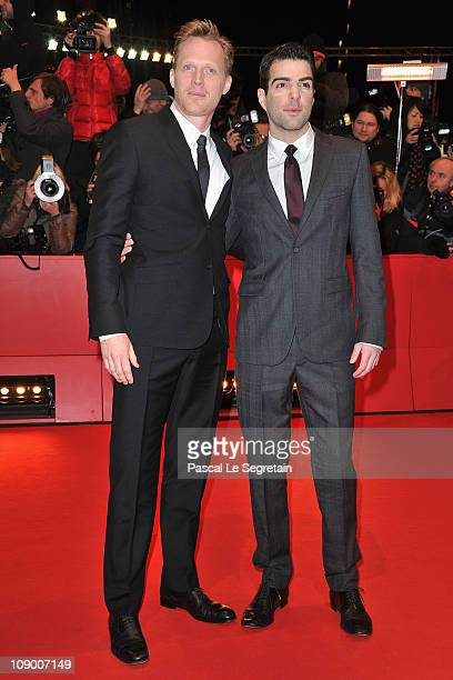 Actors Paul Bettany and Zachary Quinto attend the 'Margin Call' Premiere during day two of the 61st Berlin International Film Festival at Berlinale...