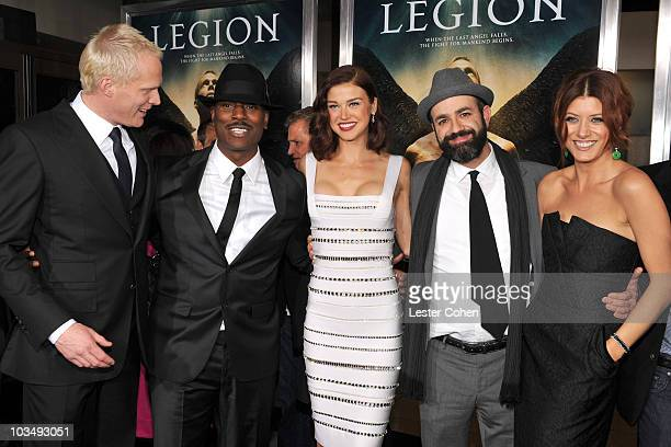"""Actors Paul Bettany, Tyrese Gibson, Adrianne Palicki, director Scott Stewart and actress Kate Walsh attend the """"Legion"""" Los Angeles premiere at..."""