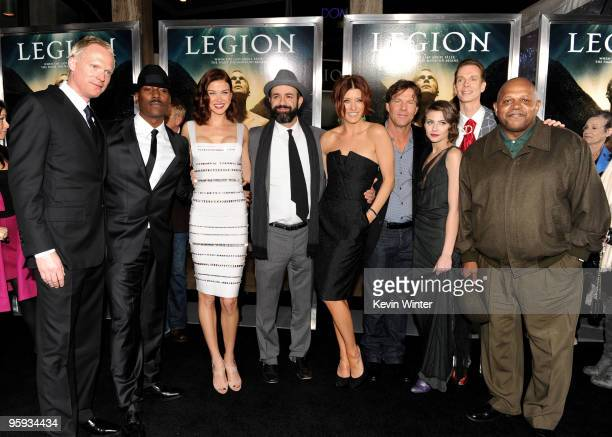 Actors Paul Bettany, Tyrese Gibson, Adrianne Palicki, director Scott Stewart, actors Kate Walsh, Dennis Quaid, Willa Holland, Doug Jones and Charles...