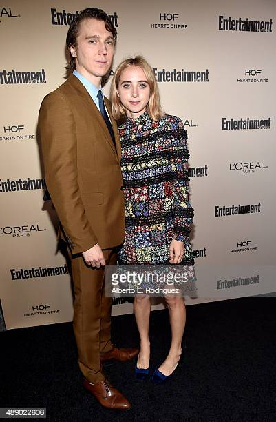 Actors Paul Dano and Zoe Kazan attend the 2015 Entertainment Weekly Pre-Emmy Party at Fig & Olive Melrose Place on September 18, 2015 in West...