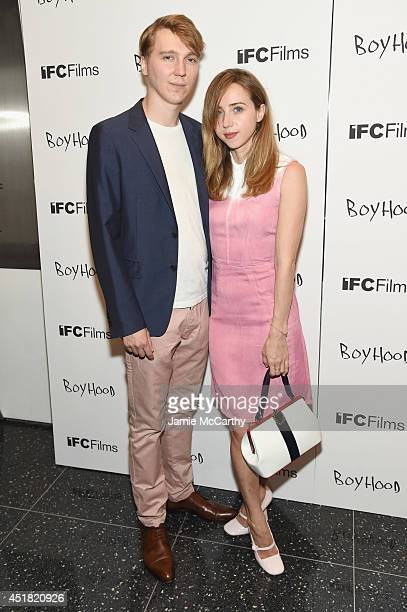 Actors Paul Dano and Zoe Kazan attend the 'Boyhood' New York premiere at Museum of Modern Art on July 7 2014 in New York City