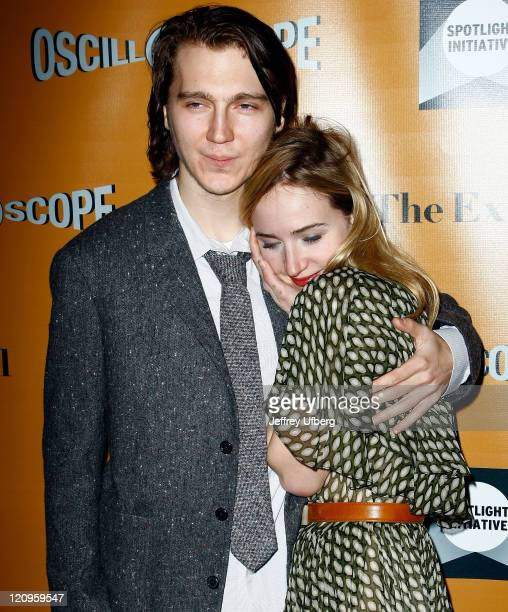 Actors Paul Dano and Zoe Kazan attend the premiere of 'The Exploding Girl' at the Tribeca Grand Hotel on March 8 2010 in New York City