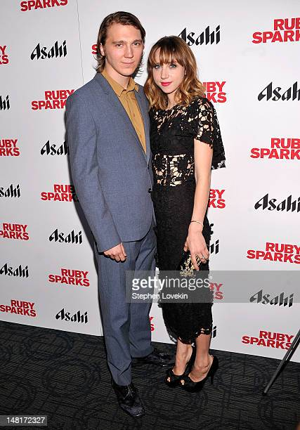 Actors Paul Dano and Zoe Kazan attend the 'Ruby Sparks' New York Special Screening at Sunshine Landmark on July 11 2012 in New York City