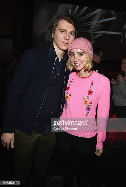 Actors Paul Dano and Zoe Kazan attend the 'Swiss Army Man' Premiere during the 2016 Sundance Film Festival at Eccles Center Theatre on January 22...