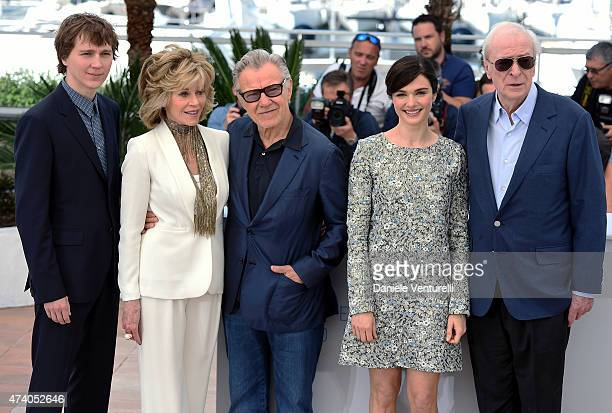 Actors Paul Dano Jane Fonda Harvey Keitel Rachel Weisz and Michael Caine attend the Youth Photocall during the 68th annual Cannes Film Festival on...