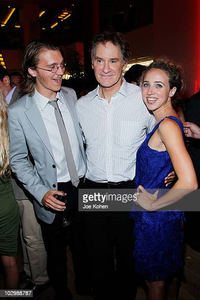 Actors Paul Dano Kevin Kline and and Zoe Kazan attend the after party for the premiere of 'The Extra Man' at Vapiano on July 19 2010 in New York City