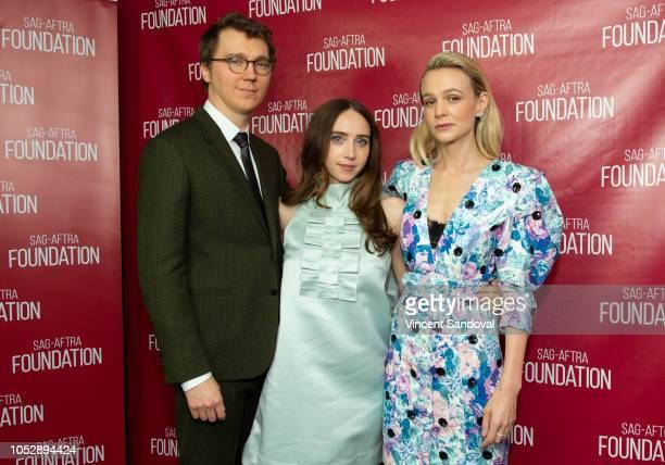 Actors Paul Dano Zoe Kazan and Carey Mulligan attend SAGAFTRA Foundation Conversations screening of Wildlife at SAGAFTRA Foundation Screening Room on...
