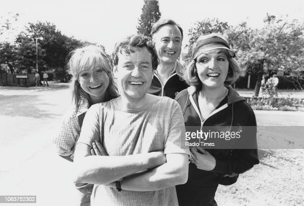 Actors Paul Eddington and Felicity Kendal in a scene from 'The Good Life' episode 'The WindBreak War' July 11th 1976