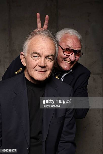 Actors Paul Eenhoorn and Earl Lynn Nelson from 'Land Ho' pose for the Tribeca Film Festival Getty Images Studio on April 22 2014 in New York City