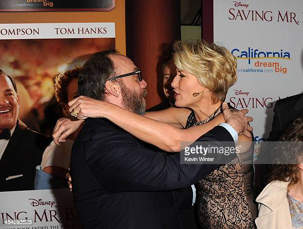 Actors Paul Giamatti and Emma Thompson attend the US premiere of Disney's Saving Mr Banks the untold backstory of how the classic film Mary Poppins...