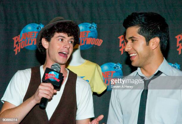 Actors Paul Iacono and Walter Perez visit Planet Hollywood Times Square on September 17 2009 in New York City