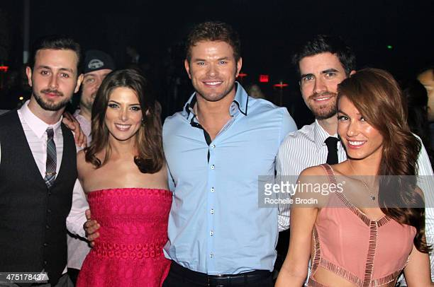Actors Paul Khoury Ashley Greene Kellan Lutz Ryan Rottman and Jessica Vargas attend Global Green USA's 11th Annual PreOscar party at Avalon on...