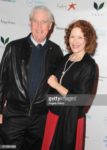 Actors Paul Linke and Christine Healy arrive at Huntington's Disease Society of America 2014 Freeze HD benefit at Mack Sennett Studios on February 22...