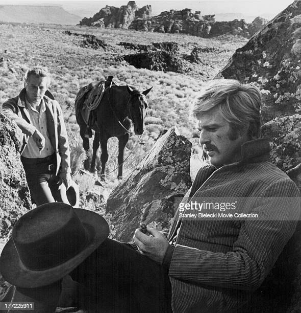Actors Paul Newman and Robert Redford in a scene from the movie 'Butch Cassidy and the Sundance Kid' 1969